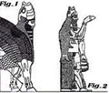 A very unique Assyrian winged bull